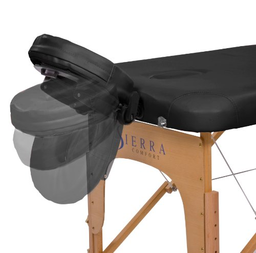 In Addition To The Face Cradle, The Armrest Supports, Leg Supports And  Semi Circle Bolster The Sierra Massage Table Also Comes With An Oil Pouch,  ...